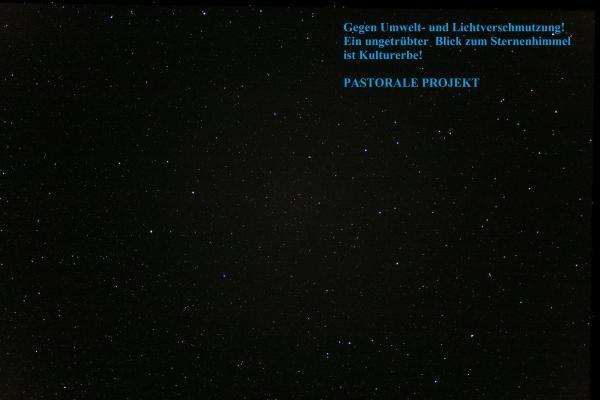 Gegen Lichtverschmutzung / Against light pollution